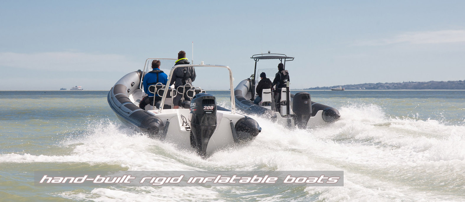 Rigid inflatable boats manufactured by Island RIBs